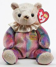 October Birthday Bear Ty Beanie Baby Opal Retired MWMT 1st Series - $5.89