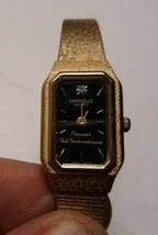 Vintage Goldtone CARAVELLE Ladies Watch w PIONEER TELE TECH Advertising ... - $14.15 CAD