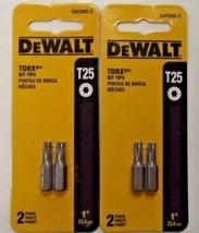 """Dewalt DW2665-2 1"""" T25 Torx Star Screw Bit Tips 2 Packs Of 2 - $2.57"""