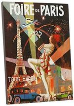 "Pingo World 0616QP895DY ""Fire de Paris Vintage"" Advertising Poster Gallery Wrapp - $57.37"