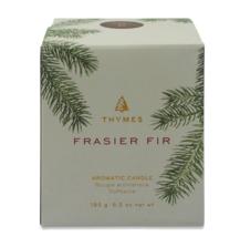 Thymes Frasier Tannenholz Formteile Grünes Glas Parfümiert Gegossen Kerze 192ml