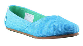 Etnies Damen Circe Eco W's Türkis Blau Flache Mary Jane Leinen Schuhe Ovp