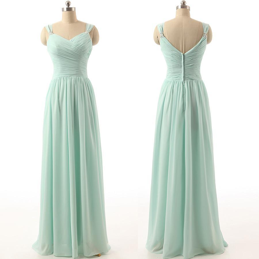 long bridesmaid Dress, mint bridesmaid Dress, chiffon bridesmaid Dresses