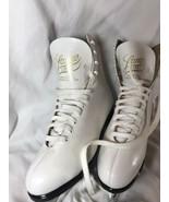 Vintage 1950s White Ice Skates Youth/ Girls Size 6 Lange Libra Brand Canada - $23.28