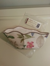 Longaberger Horizon Of Hope Basket 2003 Botanical Fields Fabric OE Liner Only - $8.86