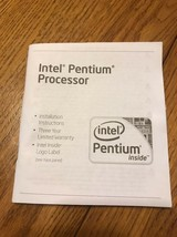 Intel Pentium Processor Instructions Only Ships N 24h - $7.90