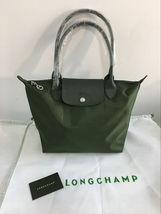 Longchamp Le Pliage Neo Small Tote Bag Moss Green 2605578749 Authentic - $139.00