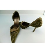 CARRINI Women's Shoes Gold/Browns High Heels Size 8.5 Pointy Toe - $14.84
