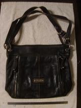 Tignanello Black Leather Crossbody Bag - $25.00