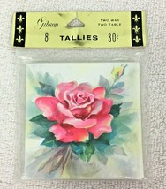 Gibson Pink Rose MIP Tallies Tally Cards 8pc A15 - $18.32