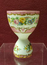 CROWN STAFFORDSHIRE China - LYRIC TUNIS / PINK Pattern - DOUBLE EGG CUP - $64.95
