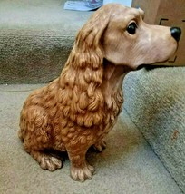 Homco 1993 Large  Cocker Spaniel Honey Brown Dog Pottery Made in Mexico ... - $49.50
