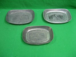 Vintage RWP Pewter Three Different Bread Trays Give Us This Day - $21.46