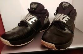 Nike Team Hustle D 8 Black / Silver 881941-001 Basketball Shoes Size 5y - $17.10