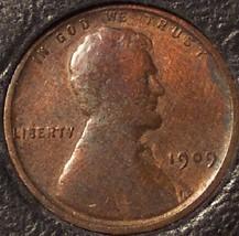 1909 VDB Lincoln Wheat Penny VG #0528 - $11.99