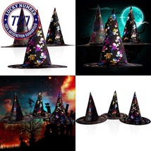 Witch Hat Adult Kids Costume Halloween Witch Party CosplayAccessory 3 P... - $22.07