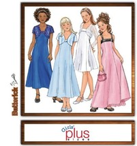 Butterick B4385 Girl's Plus Size Special Occasion Dress - $13.23