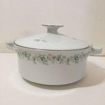 "Round Covered Serving Dish 8"" Forever Spring Johann Haviland Barvaria G... - $38.69"