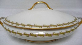 Limoges France Fine China Oval Large Serving Bowl and top - $78.95