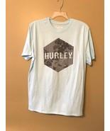 Hurley Men's Light Blue & Gray Graphic T-Shirt Size Large - $14.00