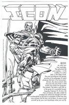 Icon (1993) Black & White Print DC Comics Denys Cowan Jimmy Palmiotti  - $4.95