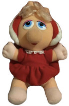 Baby Miss Piggy 1987 Henson Plush Hooded Red Dress Vintage Collectible M... - $15.99