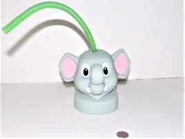 Rainforest Cafe Elephant Head, Lid Bottle with Straw - $7.91