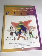 Alfred's Basic Piano Library Christmas Ensemble Book Level 3 4 Part Keyb... - $14.50