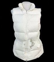 GAP Ladies Down Filled White Winter Puffer Puffy Vest Size Medium - $23.33