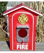 FIRE ALARM BOX Birdhouse and Feeder.  Firefighters Birdhouse FIRE ALARM BOX - $23.71