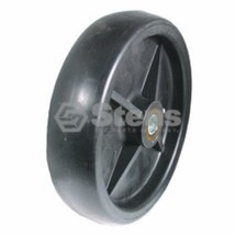 "(2) PLASTIC DECK WHEEL replaces AM107561 50"", 60"" and 72"" deck - $35.44"