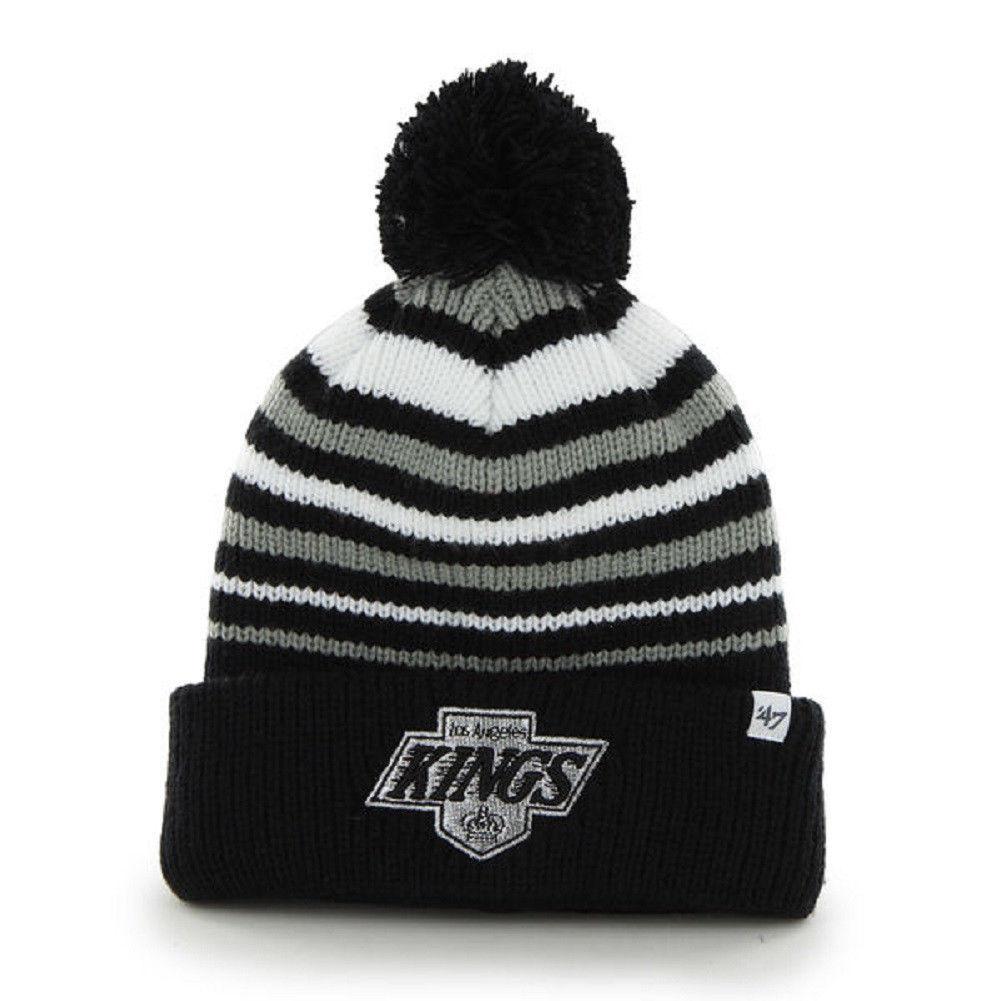Los Angeles Kings Beanie NHL Incline Cuff Pom Knit Hat Men's One Size Winter