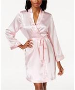 Morgan Taylor Ruffle Trim Satin Charmeuse Wrap Robe 36104 Calm Pink L/XL - $28.00