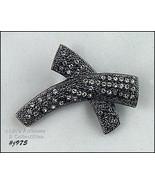 Eisenberg Ice Clear Rhinestones X Shaped Pin (Inventory #J975) - $28.00