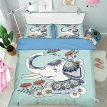 3D Elephant 226 Bed Pillowcases Quilt Duvet Cover Set Single Queen King Size AU - $90.04+