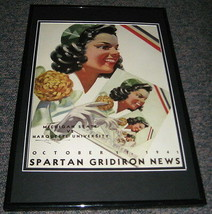 1941 Marquette vs Michigan State Football Framed 10x14 Poster Official R... - $32.36
