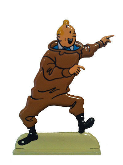 Tintin and the red rackham treasure metal figurine