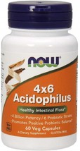NOW Supplements, Acidophilus 4X6, 4 Billion Potency with 6, 60 Veg Capsules - $29.02