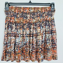 Forever 21 Womens Size Small Multi Color Pleated Ruffle Mini Skirt Stretch Waist - $4.25