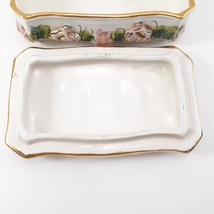 Vintage CAPODIMONTE Cherub Porcelain Trinket Dresser Box image 3