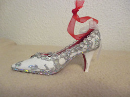 Department 56 White and Silver High Heel Shoe Christmas Ornament - $5.99