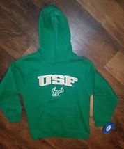 USF BULLS NEW SWEATSHIRT HOODIE GREEN YOUTH Large 10-12 - $7.99