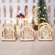 Diy Wooden Christmas Decor Candlestick Decoration Christmas Tree Hanging - $2.90