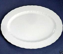 "Martha Stewart Martha's Trousseau 15"" Oval Platter Scalloped White New - $89.90"