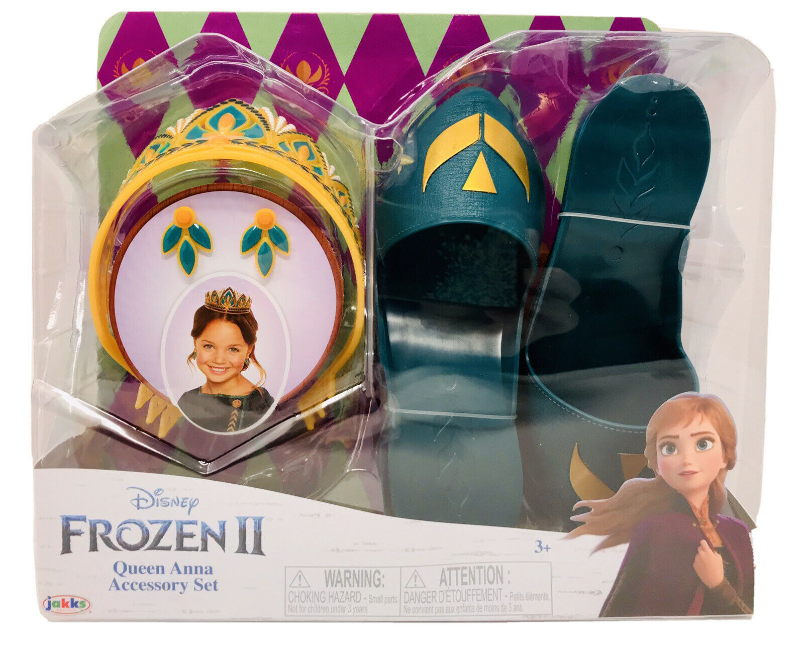 Disney Frozen 2 Queen Anna Accessory Costume Set With Tiara, Earrings, Shoes NEW - $24.99