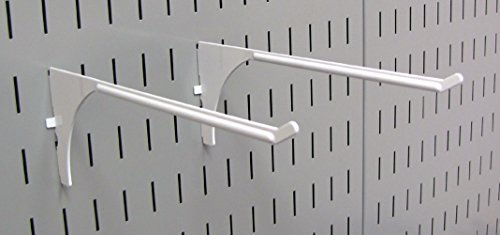 Wall Control Pegboard 9in Reach Extended Slotted Hook Pair - Slotted Metal Pegbo