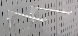 Wall Control Pegboard 9in Reach Extended Slotted Hook Pair - Slotted Metal Pegbo image 1