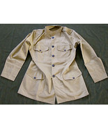 WWI US ARMY INFANTRY M1912 SUMMER COMBAT FIELD TUNIC JACKET-MEDIUM - $200.24