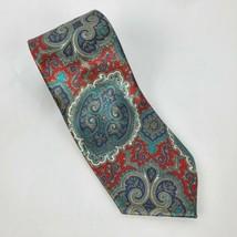 Wembley Mens Tie Red Blue Shiny Necktie Menswear - $12.13