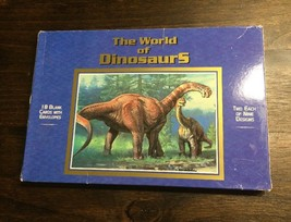 New Vtg 1997 USPS World of Dinosaurs 18 Card Portfolio Ensemble Hallmark... - $29.69